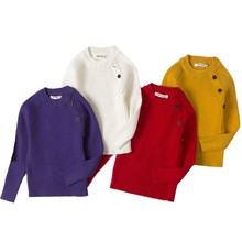 Свитера для мальчиков, весенний вязаный свитер в рубчик для маленьких девочек, свитера для девочек, однотонная детская одежда ярких цветов, пуловер для девочек