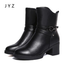 Fashion New Womens Mid Calf Snow Boots Casual Winter Shoes Keep Warm Platform Pumps High Heels Fur Lady wo180811