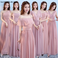 La estrella de mar wedding guest dress sale chiffon 6 style grey blush pink bridesmaid dresses long plus size brautjungfernkleid