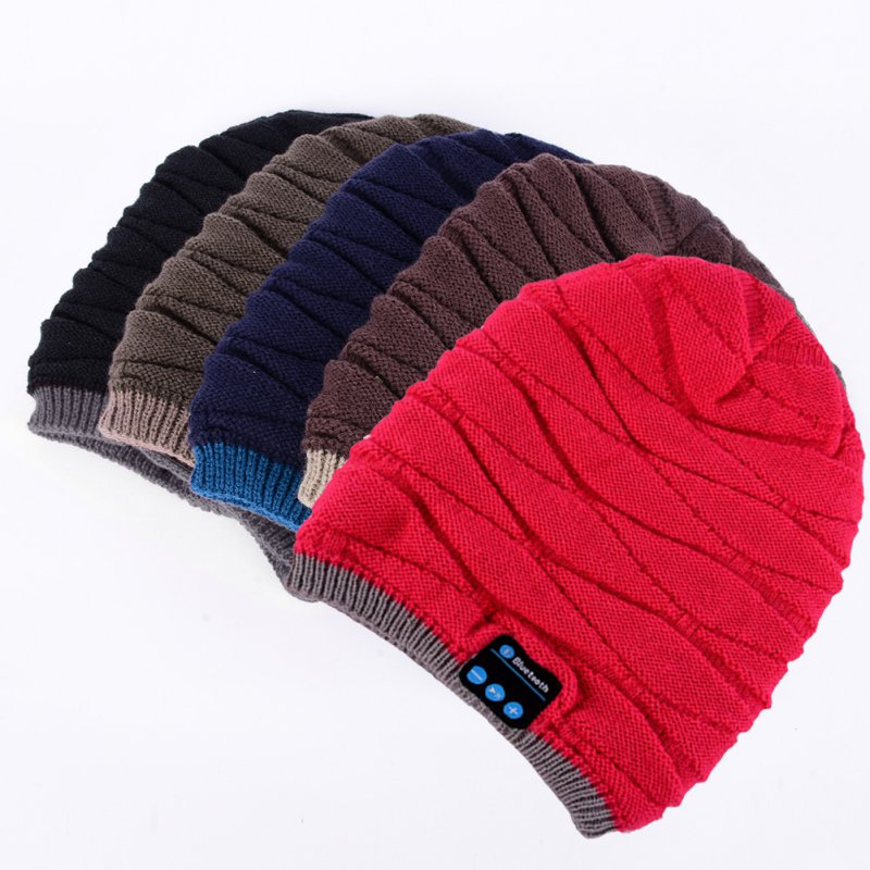 New Fashion Men Women Unisex Winter Warm Hat Wireless Bluetooth Smart Cap Headset Headphone Speaker Mic H2 men women soft warm hat bluetooth smart cap unisex wireless headset headphone speaker mic h2