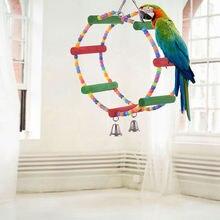 Радужный цвет деревянная искусственная птица игрушки летящие