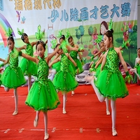 Chinese wind dance costume Princess skirt little tree dance dress costume child costume collective stage performance clothes T