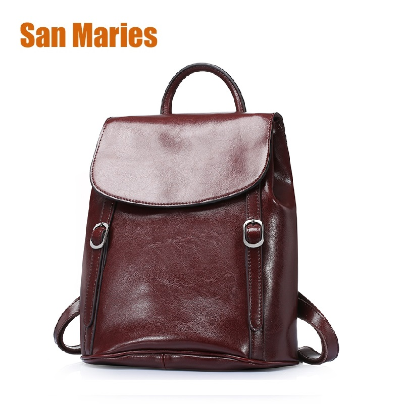 San Maries Luxury Designer Women Leather Backpacks Casual Backpack Bags Teenager School Travel Back Pack Mochila Escolar Militar women back pack mochila genuine leather school bags for teenager girls unisex casual travel luggage packing backpack escolar