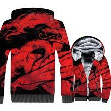 купить Game Of Thrones 3D Jacket Men 2018 Autumn Winter Thick Hoody House Targaryen Blood And Fire Streetwear Men's Hoodies Sweatshirt онлайн