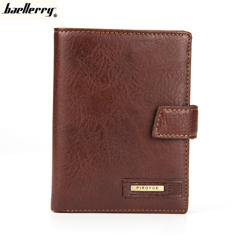 Baellerry Men's Long Business Leather Wallets Large Capacity Multi-functional Male Purses Passport Holder Clutch Bag 3073B