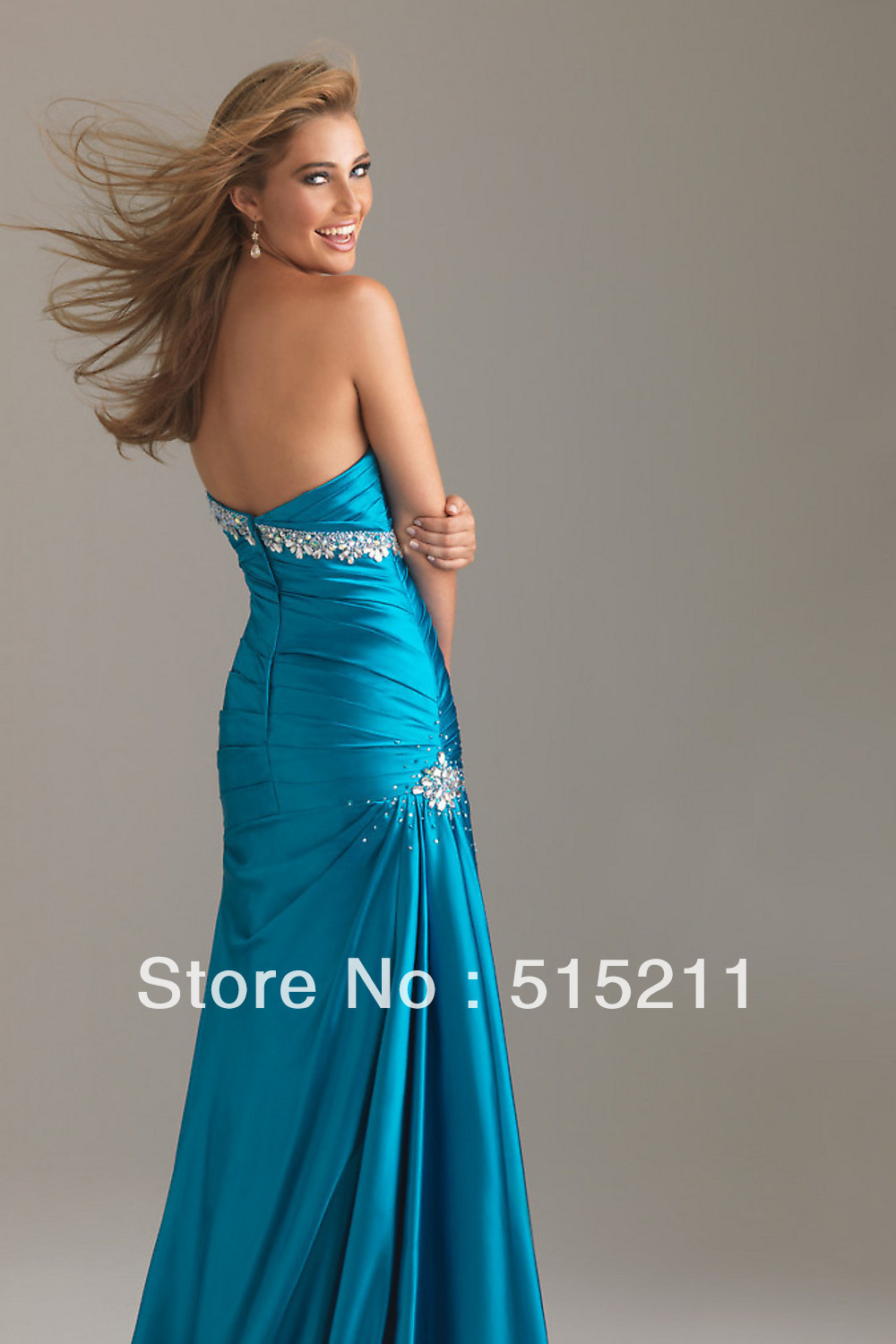 Sexy Sweetheart Open Back Pleated Long Mermaid Prom Dress ...