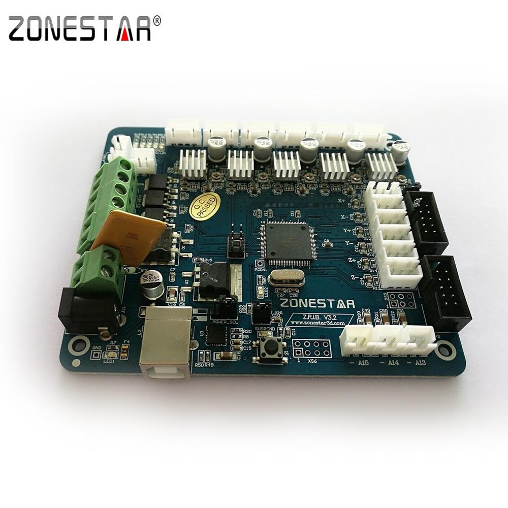 Zonestar Reprap 3D Printer Controller Board Motherboard ZRIB Compatible with RAMPS 1.4 Control Mendel  i3 ATMEGA 2560 robotale ramps 1 4 reprap mendelprusa 3d printer control board red black