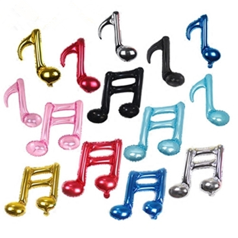 New Musical note balloon wedding decoration happy birthday balloons inflatable semiquaver air balls baby shower foil balloons image