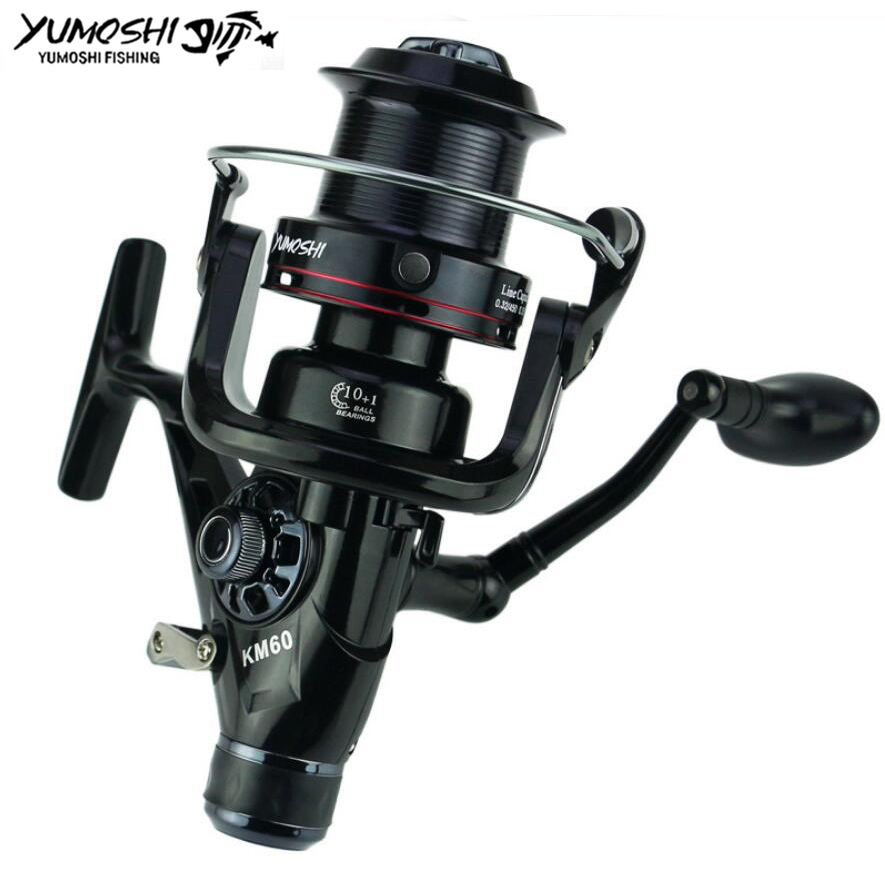 Yumoshi KM50/60 11BB Brake Fishing Reel G-Ratio 5.2:1 fly fishing reel Carp Feeder Spinning Fishing Reels brand new smt yamaha feeder ft 8 2mm feeder used in pick and place machine