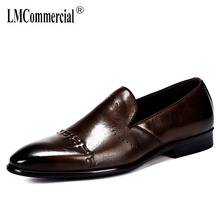 hot deal buy retro real leather mens shoes british business leisure shoes lazy men shoes mens formal shoes all-match cowhide spring autumn