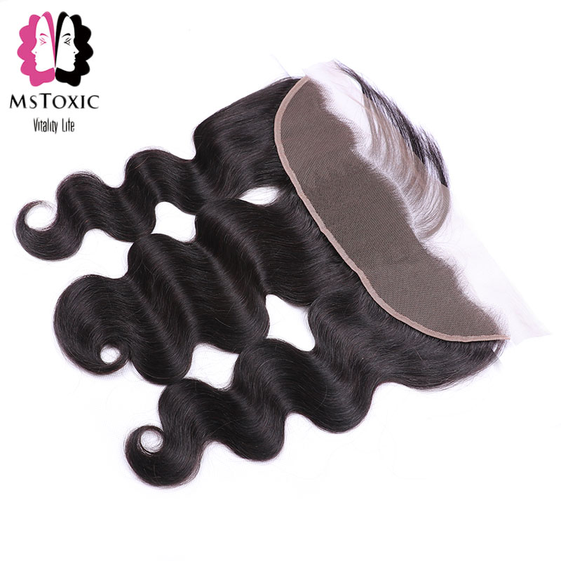 Mstoxic 13x4 Pre Plucked Ear To Ear Lace Frontal Closure With Baby Hair Peruvian Body Wave Frontal Remy Human Hair Free Shipping