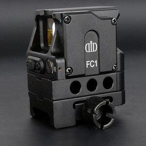 Image 3 - Оптический прицел DI FC1 с красной точкой, голографический прицел для рельсовой направляющей 20 мм (черный)