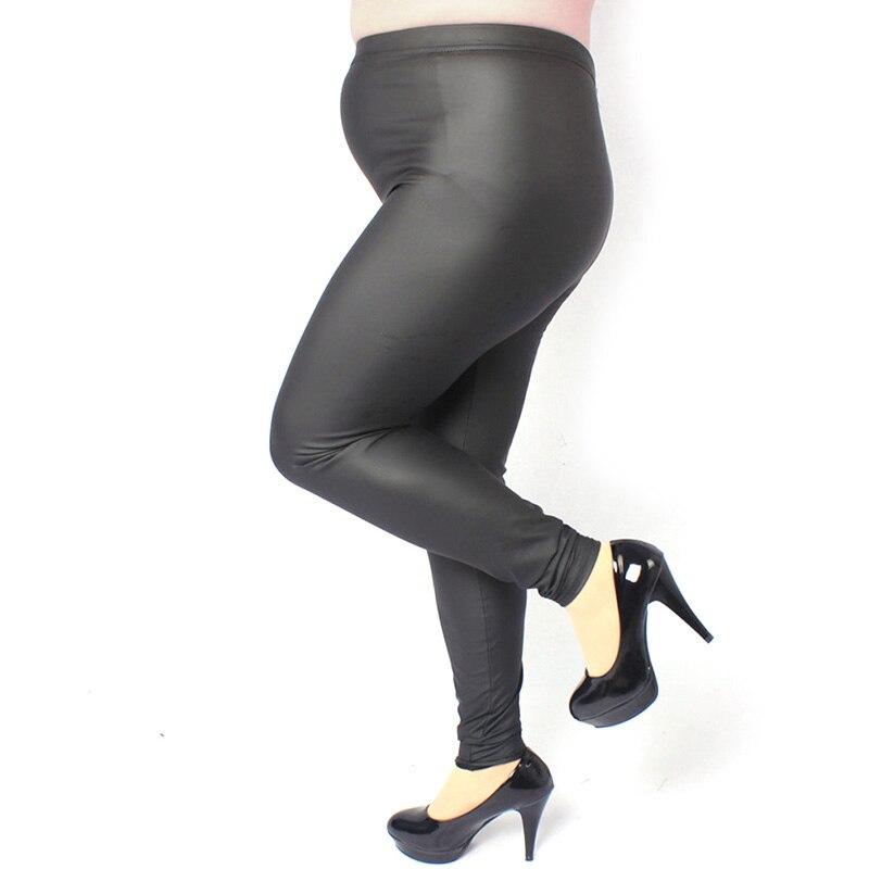 Sexy Femmes Lady Plus La Taille 3XL 4XL Maigre Taille Haute Faux Jambières En Cuir Pantalon