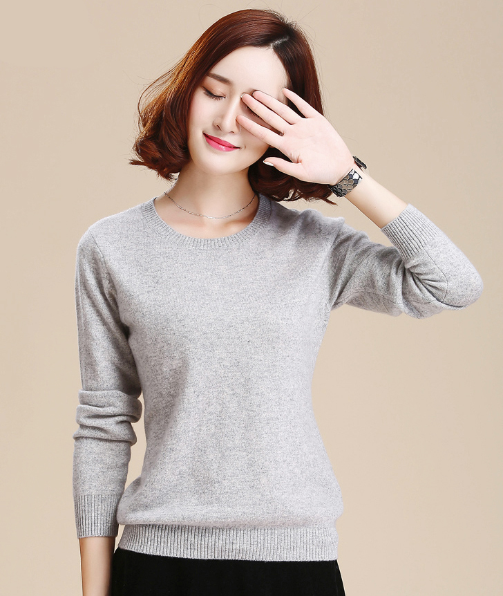 Useful Fashion Women Sweater Pullovers O-neck Knitted Solid Color Sweater Casual Long Sleeve Cheap Sales Sweaters Women's Clothing