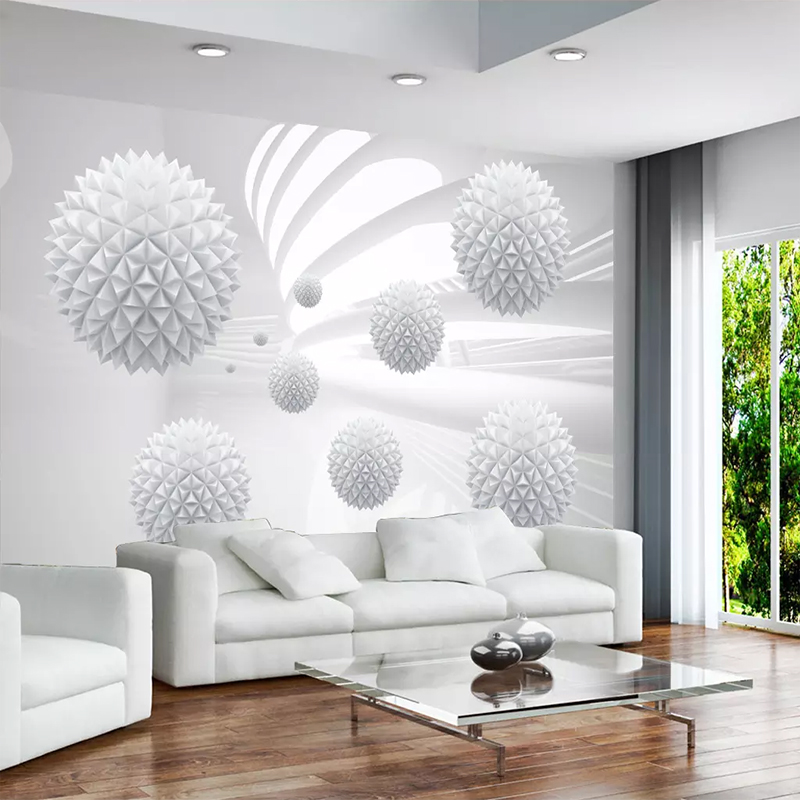 Custom 3D Mural Wallpaper 3D Solid Ball Geometric Space Mural Background Modern Art Mural Living Room Home Decor Wall Painting