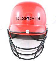 Professionnel Adultes Softball De Frappeur De Baseball Casque avec Visage Garde Noir Chapeau pour La Sécurité D'équitation de Camping Randonnée, Livraison gratuite