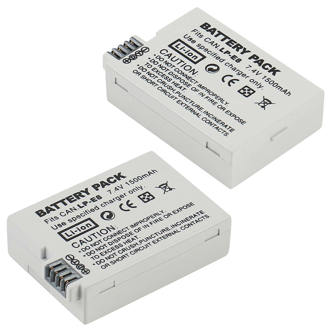 LP-E8 <font><b>Battery</b></font> Pack Bateria LP-E8 Lp E8 For <font><b>Canon</b></font> <font><b>550D</b></font> 600D 650D 700D X4 X5 X6i X7i T2i T3i T4i T5i DSLR Camera 0.11 image