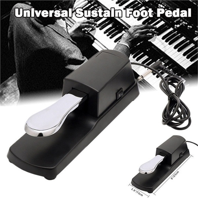 Universal Piano Keyboards Sustain Foot Pedal Damper Pedal 6.5mm Plug For Electric Piano Keyboards