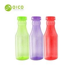 OICO 550 ml coloré en plastique bière bouteille d'eau sport vélo en plein air vélo bouteille pour boire de la bière de fruits