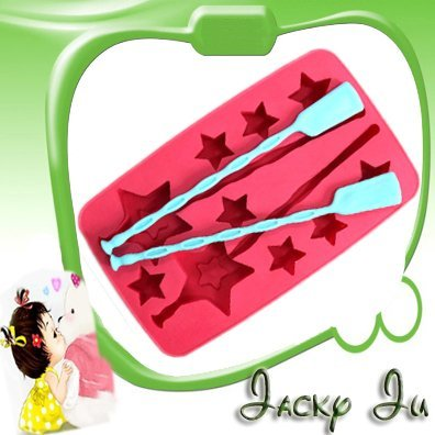 8pcs/Lot Free Shipping New Lucky Star Shape Creative Living Refrigerator Ice Box Mould Mold Ice Stirrer