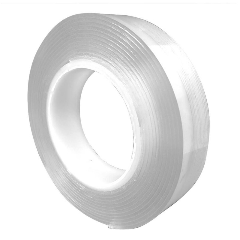 1m Reusable Universal Super Strong Washable Removable Traceless Adhesive Double Sided Tape for Bathroom and Other Walls or Surfaces Multifunctional Tape