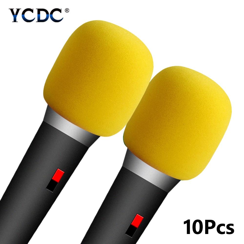 10 Stks Gemengde Kleuren Handheld Stage Microfoon Windscherm Foam Mic Cover Karaoke Zwart/groen/rood/blauw/ Geel/oranje