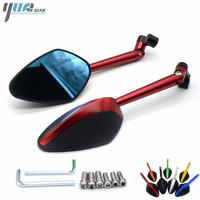 For Yamaha MT07 MT 07 MT 09 Racer XJR 1300 FZ1 FZ6 R6 Fazer Universal Side Mirror Motorcycle Mirror Scooter Moto Rearview Mirror