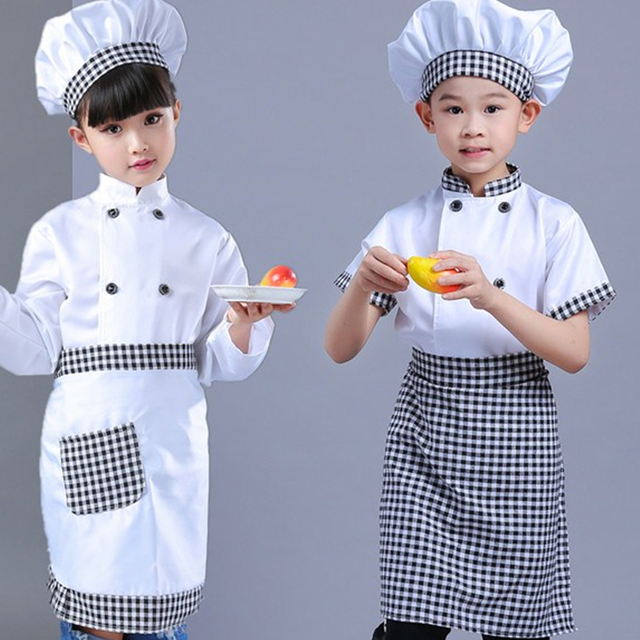 New Kids Chef Costumes Cooks Clothing Boys Cosplay Chef Jacket