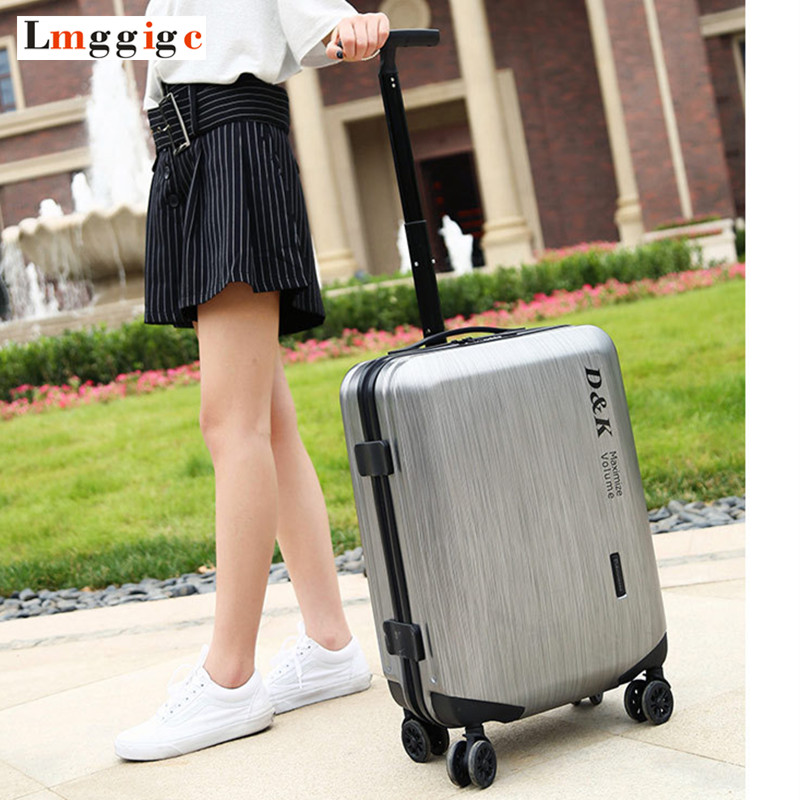 Rolling Travel Luggage Suitcase bag, High quality Fashion ABS+PC Trolley Case, Customs Lock business Box 2024inch universal wheels luggage abs mute rolling travel bag password lock trolley suitcase colorful hand pull box