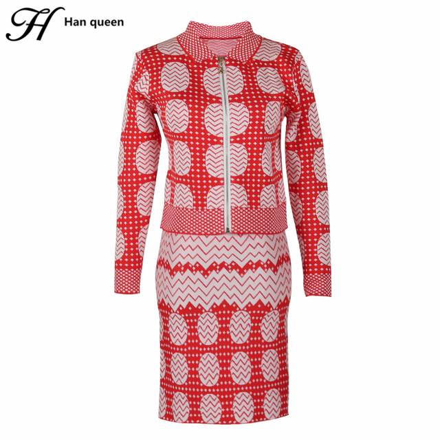 H Han Queen Womens Two Piece Sets 2017 New Christmas Sweater Set ...