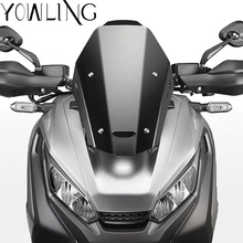 New Arrival Black Motorcycle Accessories Windshield Windscreens Wind Deflectors For HONDA X ADV XADV X-ADV 750 XADV750 2017 2018