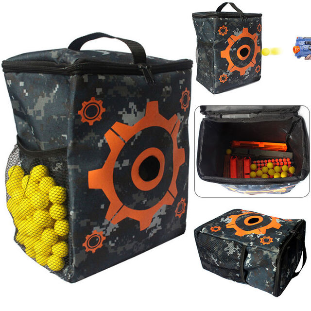 Airsoft Target Pouch Storage Carry Equipment Bag For Nerf N-strike Elite    Mega   Rival Darts Storage Compact Bag Jeux Exterieur 7c406d547