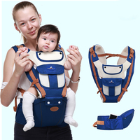 2019 Baby Ergonomic Carriers Multifunctional Backpacks Toddler Detachable Infant Safety Sling Hipseat Kid Kangaroos Carrier Blue