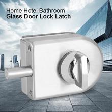 10~12mm Stainless Steel Glass Door Lock Latch Solid Round Glass Door Lock Rotary Knob for Home Hotel Bathroom Hardware все цены