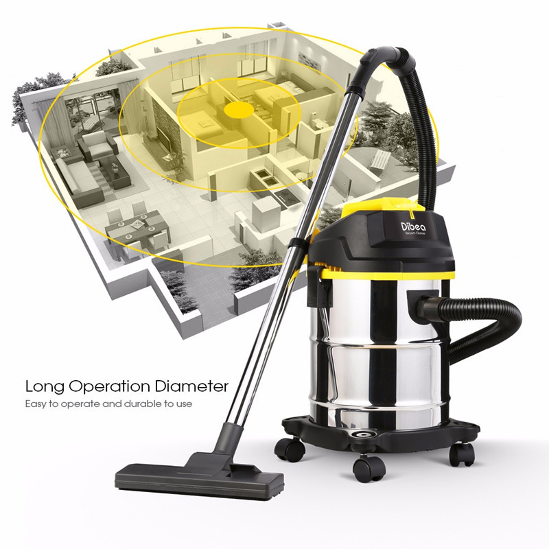 Dibea DU100 Household Vacuum Cleaner 15L Barrel Type Wet Dry Vacuum Cleaner Cleaning Machine Handheld Dust Collector For Home матрас ladema bio form 120х60х10