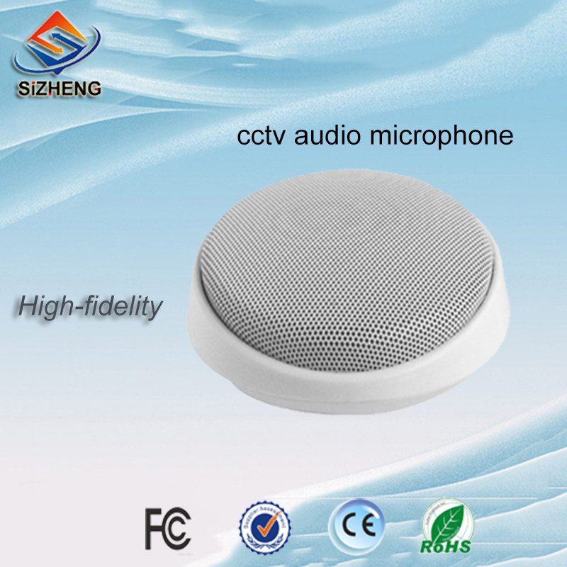 SIZHENG COTT S5 High sensitive CCTV microphone security sound monitor audio pickups for CCTV camera DVRs NVRs in CCTV Microphone from Security Protection
