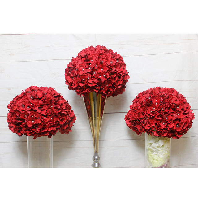 spr red wedding flower arrangement table centerpiece flower ball rh aliexpress com