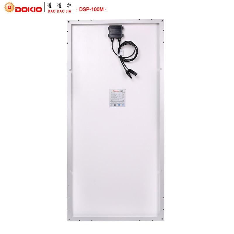 Dokio Marque panneau solaire Chine 100 W Monocristallin De Silicium 18 V 1175x535x25 MM Taille Top qualité Solaire batterie Chine # DSP-100M - 2