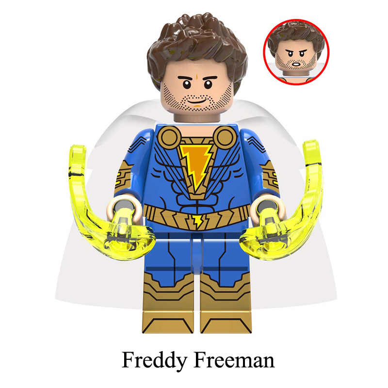 DC Super Hero Shazam Freddy Freeman Sivana мини игрушка фигурка строительный блок сборка кирпичная игрушка для мальчика, совместимая с lego