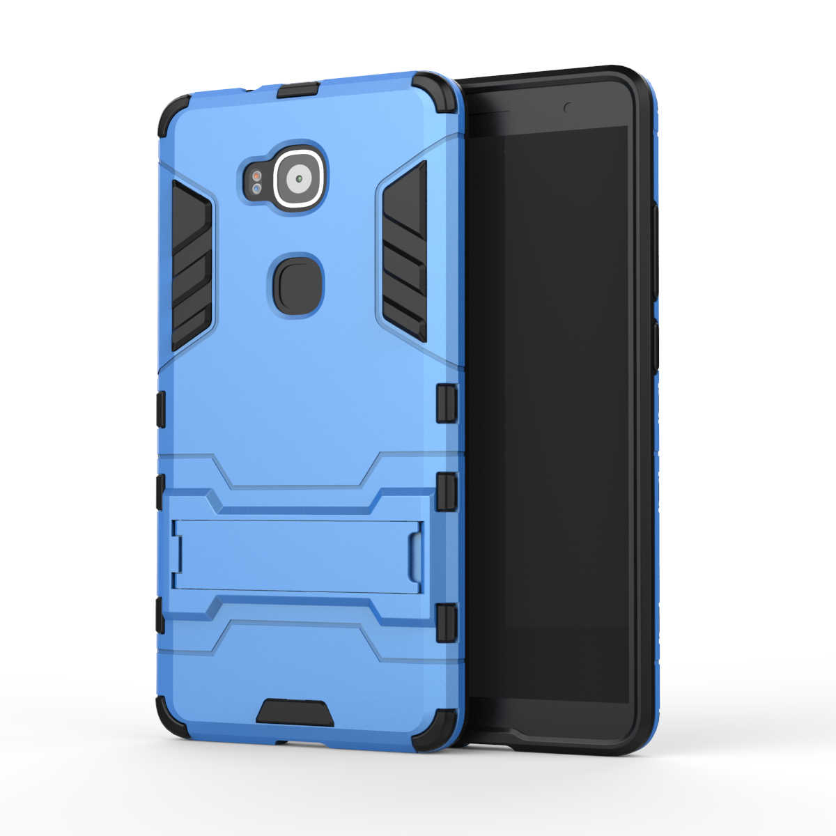For Huawei G8 Case GX8 Armor Heavy Duty Hybrid Hard Soft Rugged Silicone Rubber Phone Cover For Ascend G8 G7 Plus with Stand (<