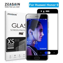Original ZEASAIN Full Cover Tempered Glass for Huawei Honor 9 Honor9 Screen Protector 9H 2.5D Toughened Safety Glass Film