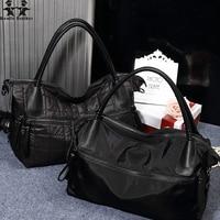 Wenjie Brother Female Womens Handbag Portable Personality Large Capacity Ladys Shoulderbag Oxford Waterproof Cloth Shoulder Bags