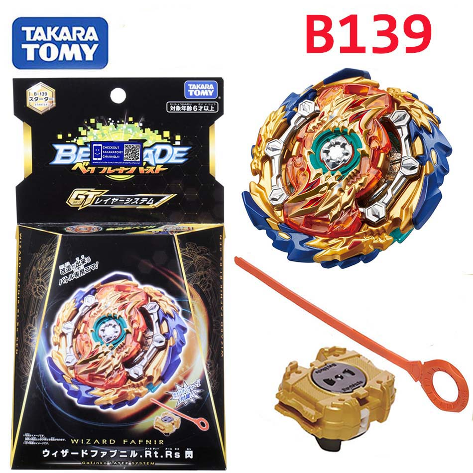 Takaratomy Beyblade Burst B 139 Starter Wizard Fafnir . Rt . Rs Sen bay blade with launcher Bayblade gyroscope Toys for boy|Spinning Tops| |  - title=