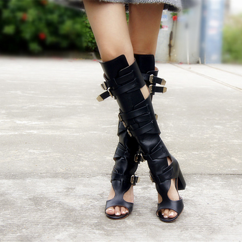 Thigh High Boots Open Toe Promotion-Shop for Promotional Thigh ...