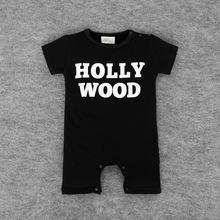 016 unisex baby clothes wholesale baby Romper climbing clothing coveralls alphabetical HOLLY WODD clothes baby clothes