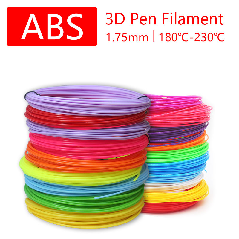 High quality 3D Pen 3D printing pen filament 1.75MM ABS plastic 3D pen thread, colorful, healthy and safe, Christmas gift