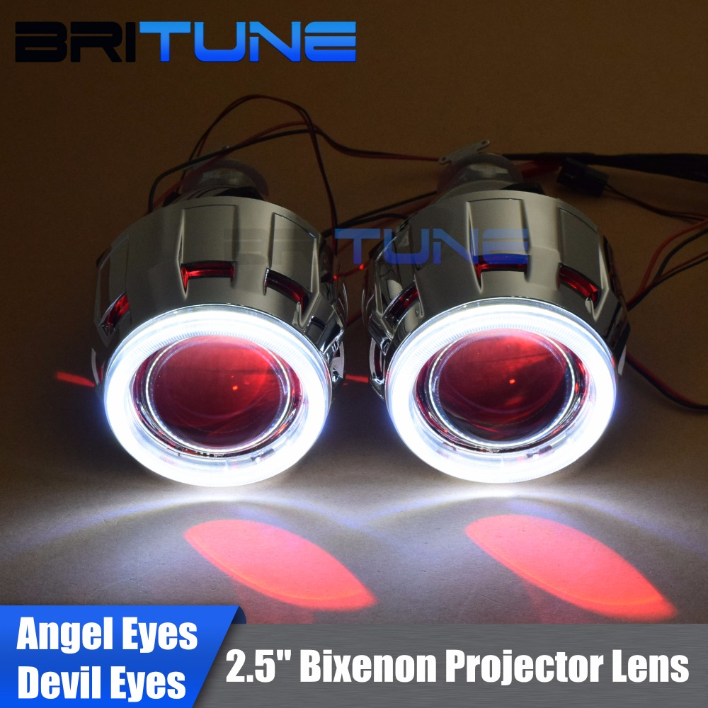 Upgrade 8 0 Lenses in Headlight Mini 2 5 HID Bixenon Projector Lens LED COB DRL