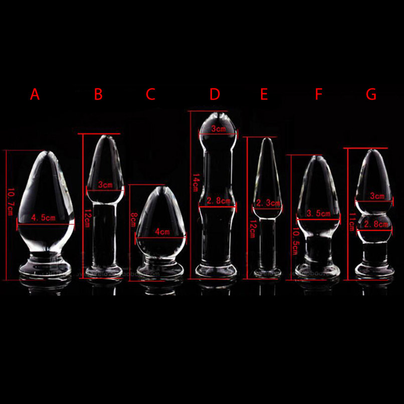 1PCS Glass Anal Dildo <font><b>Butt</b></font> <font><b>Plug</b></font> Anal Beads Erotic <font><b>Sex</b></font> <font><b>Toy</b></font> for Women Adult Products for Couples Crystal Glass Anal Stimulator image