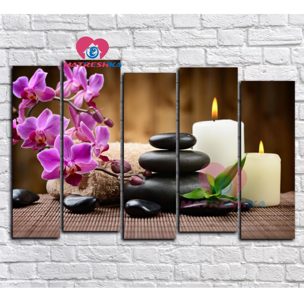 Diamond embroidery flowers candle 5D diamond mosaic pictures of rhinestones diamond painting 5 pcs household products