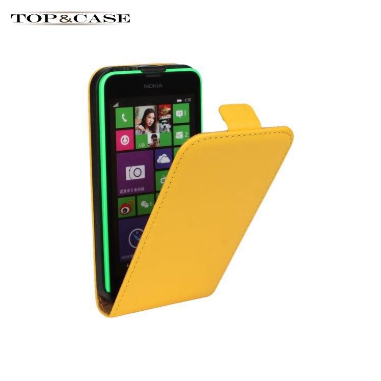 Luxury Genuine Leather Case Flip Cover For Nokia Lumia 630